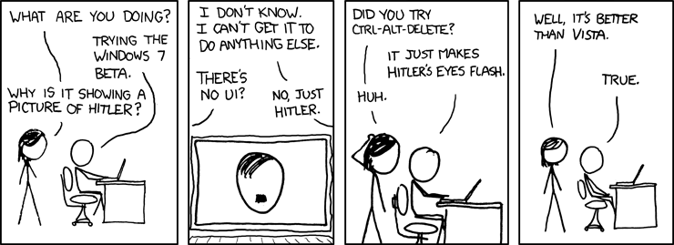 XKCD's 'Windows 7'